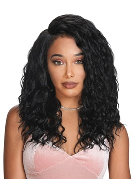 Medium Hairstyles Women's Water Wave 100% Human Hair Wigs Lace Front Cap Wigs 20inch