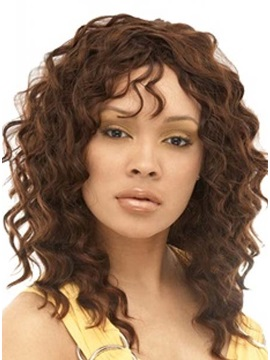 Custom Hand Tied 100% Human Hair Curly Lace Front Wig about 18 Inches