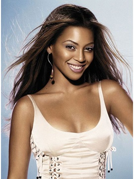 Custom Beyonce Knowles Hairstyle Straight Lace front Wig 100% Human about 20 Inches