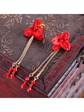 New Style Pearl Flower Decorated Wedding Two-Piece Jewelry Sets