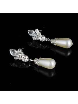 Floral Earrings Diamante Jewelry Sets (Wedding)