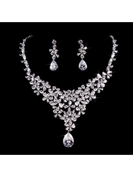 European Gemmed Earrings Jewelry Sets (Wedding)