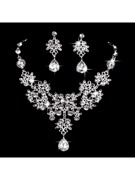 Necklace Diamante Ethnic Jewelry Sets (Wedding)