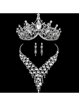 E-Plating Tiara European Jewelry Sets (Wedding)