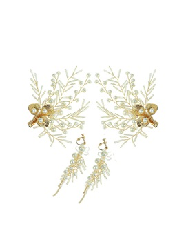 Earrings E-Plating Floral Jewelry Sets (Wedding)