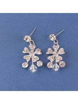 E-Plating Floral Earrings Jewelry Sets (Wedding)