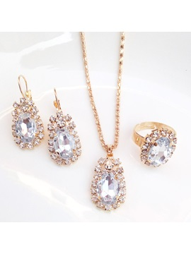 Necklace European E-Plating Jewelry Sets (Wedding)