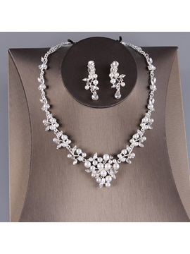 Water Drop E-Plating Korean Jewelry Sets (Wedding)