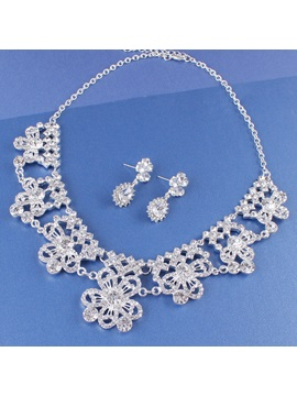 E-Plating Necklace Floral Jewelry Sets (Wedding)