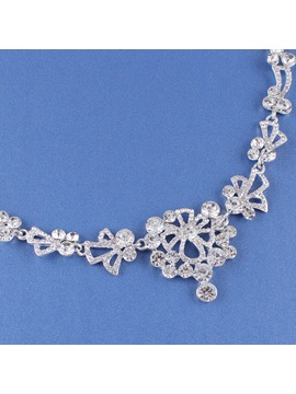 Floral E-Plating Necklace Jewelry Sets (Wedding)