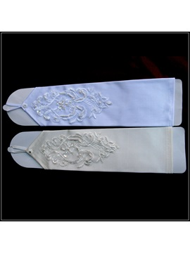 Fingerless Appliques Wedding Glove with Beading