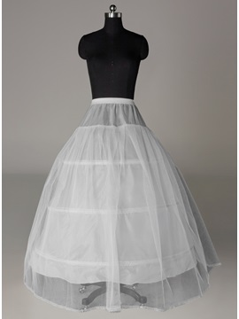 Cheap Three Steel Loops Supports Ball Gown Wedding Petticoat