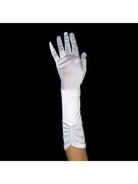 Fingers Ruched Wedding Bridal Glove