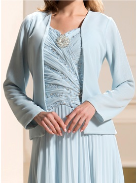 Simple Long Sleeves Evening Jacket