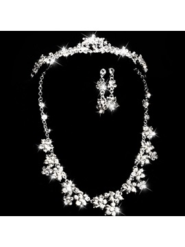 Hot Sale Rhinestone Alloy Wedding Jewelry Set
