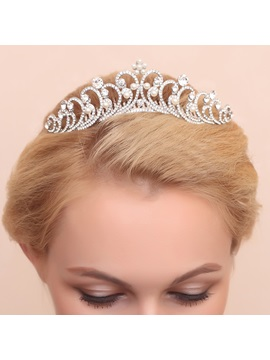 Delicate Floral Diamante Alloy Wedding Tiara