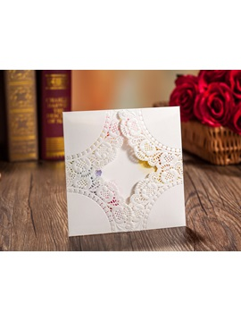 Customized Floral Pattern Church Invite Card (20 Pieces One Set)