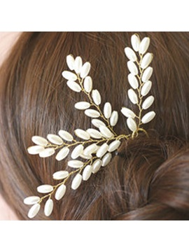 Charming Pearls Inlaid Alloy Wedding Hairpin