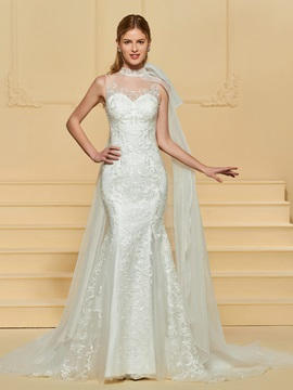 Lace Mermaid Wedding Dress with Sleeve