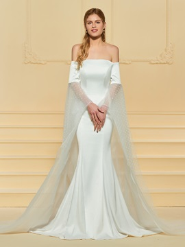 Off the Shoulder Mermaid Wedding Dress with Sleeve