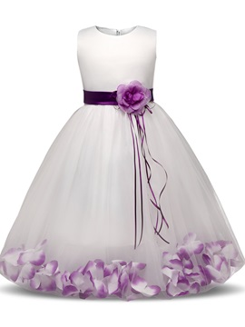 Cute Flowers Girl's Party Dress