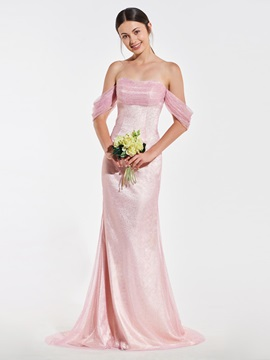 Off the Shoulder Mermaid Sequins Bridesmaid Dress