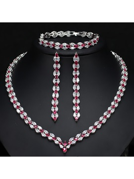 European Diamante Water Drop Jewelry Sets (Wedding)