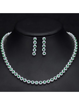 European Diamante Necklace Jewelry Sets (Wedding)