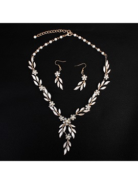 Leaf European Earrings Jewelry Sets (Wedding)