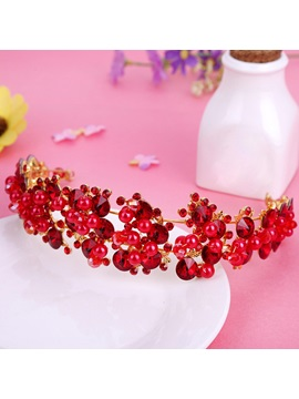 Korean Pearl Inlaid Crown Hair Accessories (Wedding)