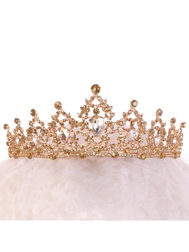 European Gemmed Crown Hair Accessories (Wedding)