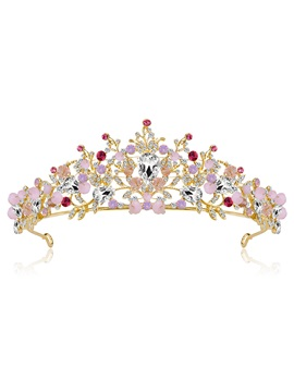 Crown Tiara Gemmed Hair Accessories (Wedding)