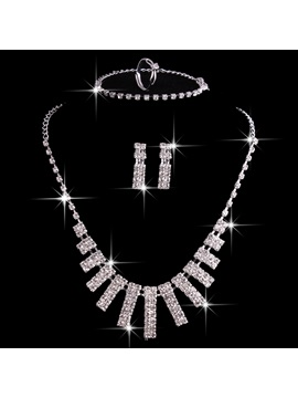 Floral E-Plating European Jewelry Sets (Wedding)
