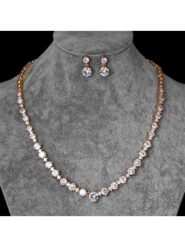 Gemmed European Floral Jewelry Sets (Wedding)