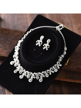 Floral European Earrings Jewelry Sets (Wedding)