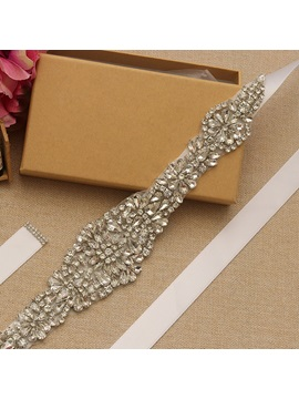 Ribbon Regular(2-4cm) Rhinestone Bridal Belts 2019