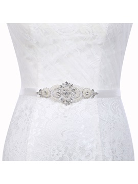 Polyester Regular(2-4cm) Rhinestone Bridal Belts 2019