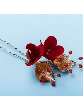 Hair Stick European Floral Hair Accessories (Wedding)