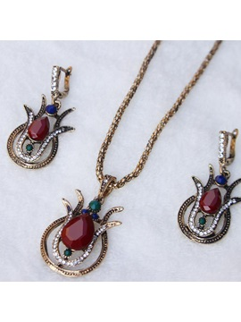 Vintage E-Plating Necklace Jewelry Sets (Wedding)
