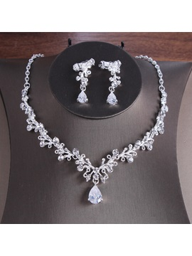 Necklace E-Plating Korean Jewelry Sets (Wedding)