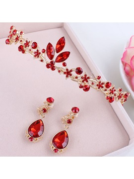 Ethnic E-Plating Floral Jewelry Sets (Wedding)