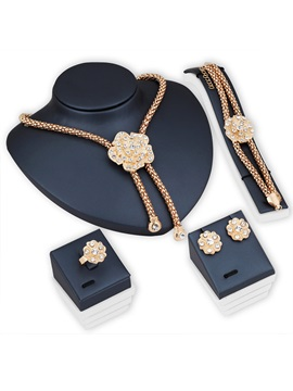European Floral Bracelet Jewelry Sets (Wedding)