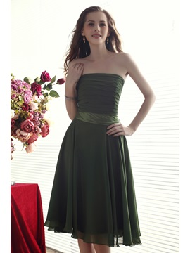 Comfortbal A-Line Strapeless Pleats Knee-length Nadya's Bridesmaid Dress & Bridesmaid Dresses for sale