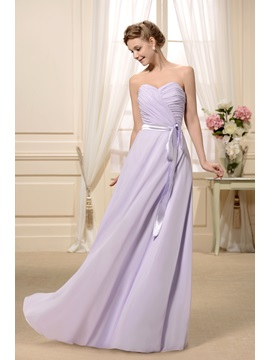 Sashes/Ribbons Ruched A-Line Sweetheart Neckline Floor-Length Bridesmaid Dress & vintage style Bridesmaid Dresses