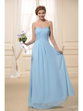 Pure Pleats A-Line Sweetheart Long Bridesmaid Dress & inexpensive Bridesmaid Dresses