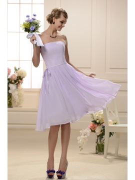 Designer Knee-Length Sashes/Ribbons Strapless Bridesmaid Dress & unique Bridesmaid Dresses