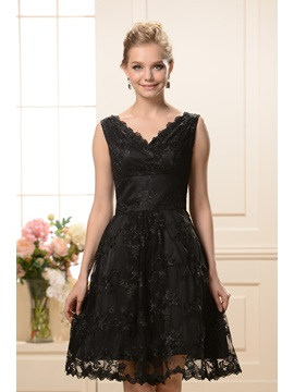 Fashionable A-Line V-Neck Knee-Length Lace Nadya's Bridesmaid Dress & Bridesmaid Dresses for sale
