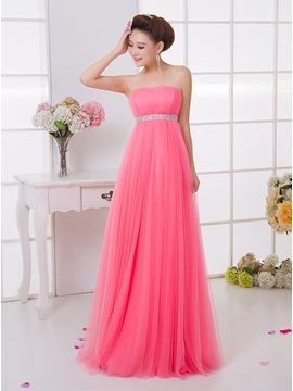 Fancy A-Line Strapless Beaded Waist Bridesmaid dress & Bridesmaid Dresses under 300