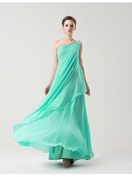 Simple Style Floor Length Sheath One Shoulder Bridesmaid Dress & vintage Bridesmaid Dresses