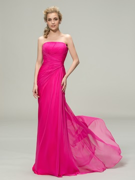 Pure Strapless Sheath Long Bridesmaid Dress & discount Bridesmaid Dresses